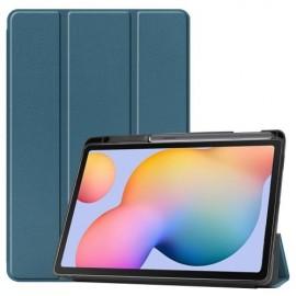 Tri-Fold Book Case Samsung Galaxy Tab S6 Lite Hoesje - Groen