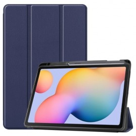 Tri-Fold Book Case Samsung Galaxy Tab S6 Lite Hoesje - Donkerblauw