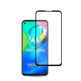 Full-Cover Tempered Glass Moto G8 Power - Zwart